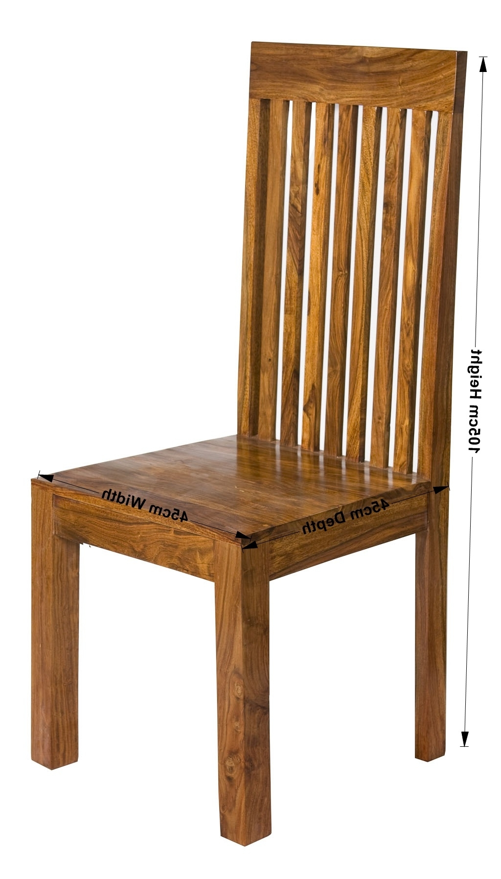 Newest Sheesham Dining Chairs With Cube Petite Chunky Indian Sheesham Wood Pair Of Slatted Dining Chairs (View 3 of 25)