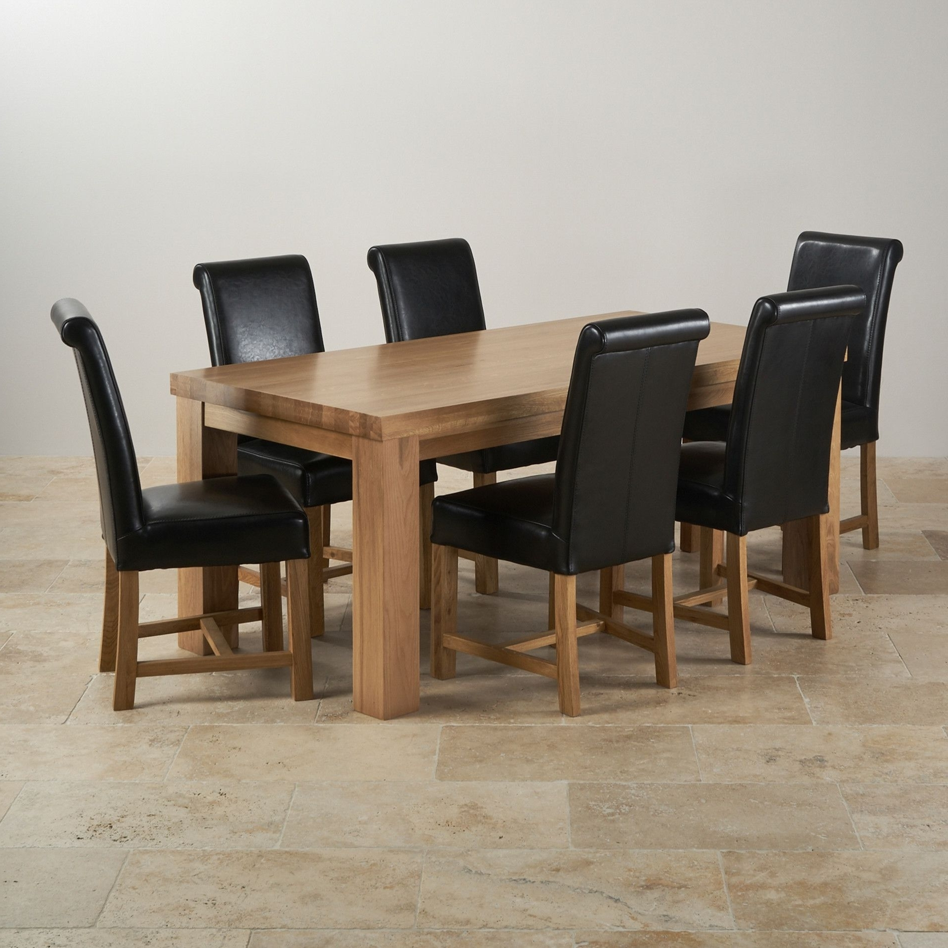 Newest Solid Oak Dining Tables And 6 Chairs Pertaining To Solid Oak Kitchen Table And 6 Chairs (View 11 of 25)