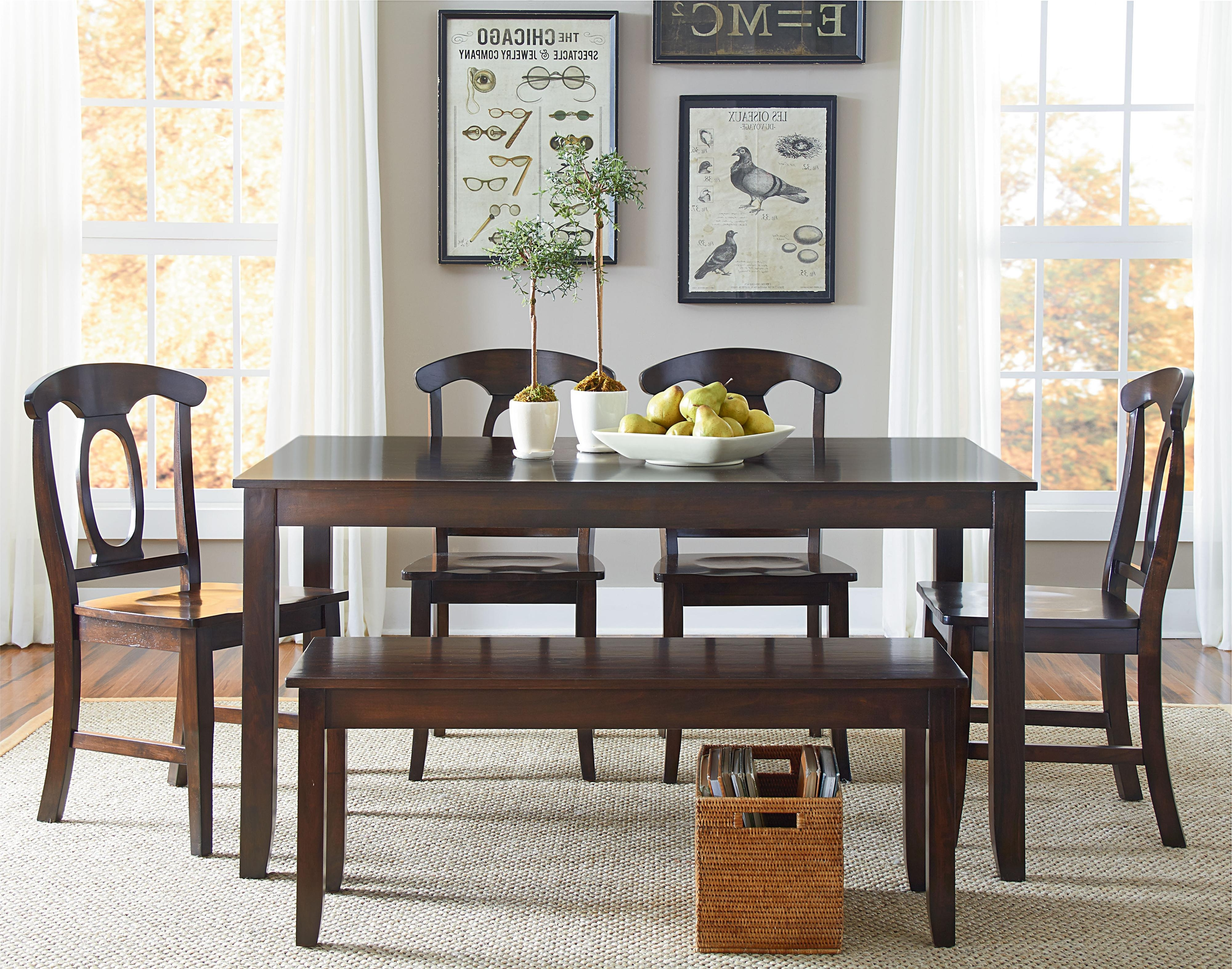 Newest Standard Furniture Larkin 6 Piece Dining Table Set With Open Oval With Regard To Cheap Dining Tables Sets (Gallery 19 of 25)