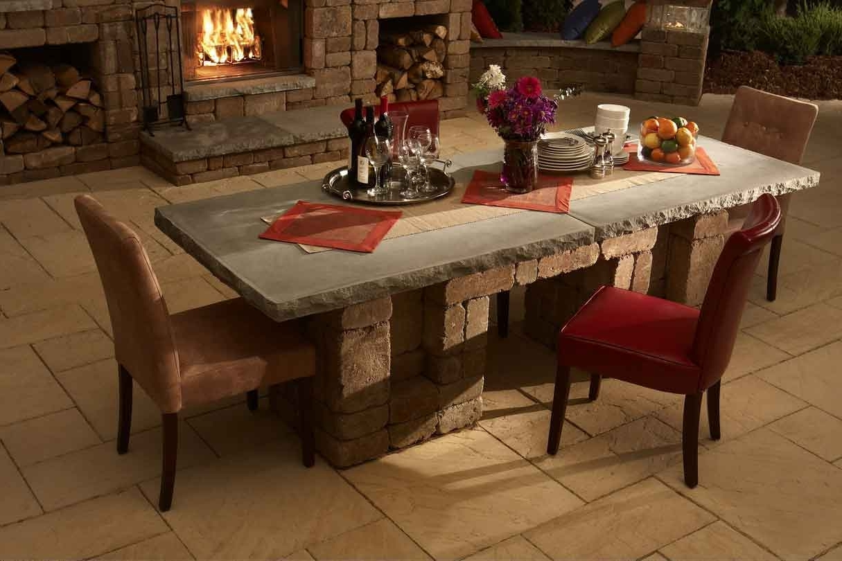 Newest Stone Dining Table: Images And Photos Objects – Hit Interiors With Regard To Stone Dining Tables (View 14 of 25)