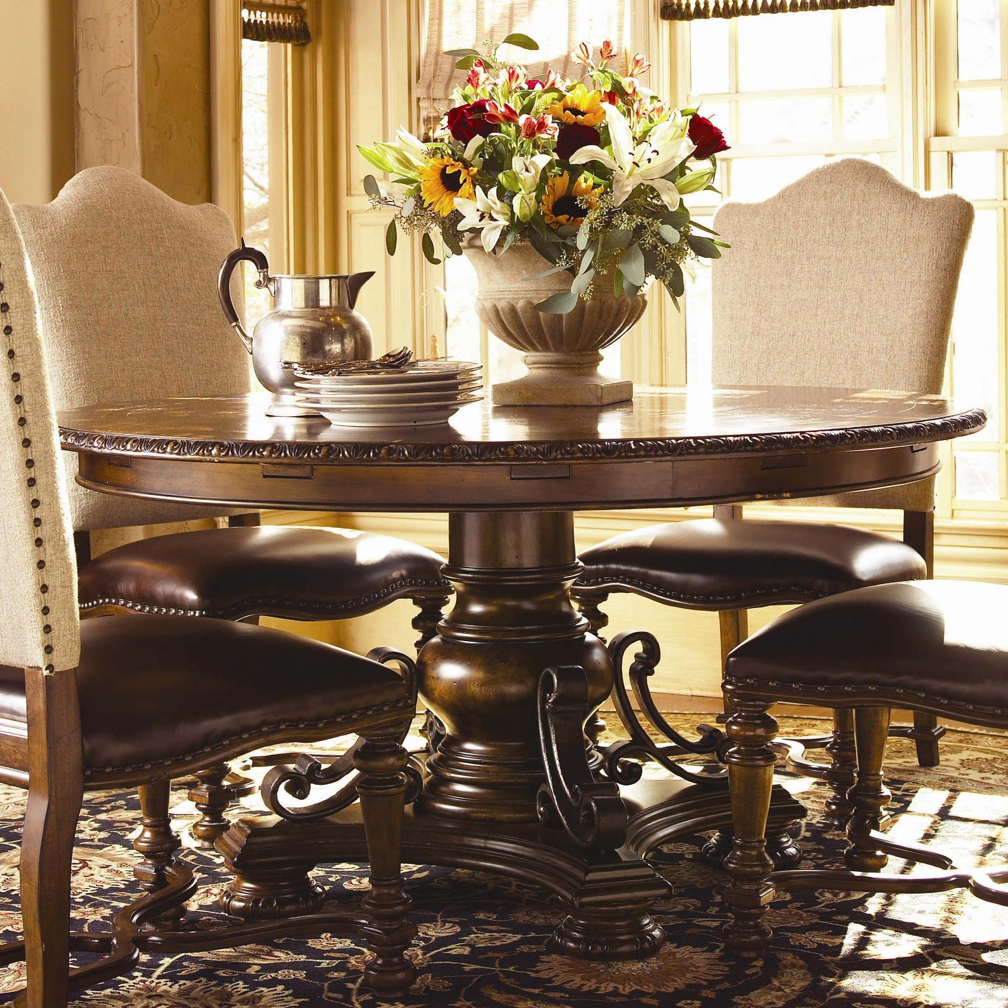 Newest Universal Bolero Seville Round Dining Table – Ahfa – Dining Room In Universal Dining Tables (View 12 of 25)