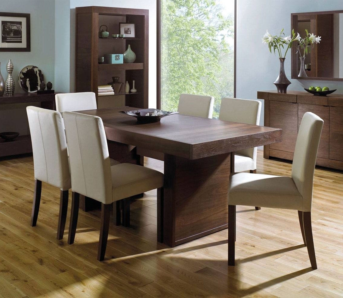 Newest Walnut Dining Tables And Chairs Throughout Bentley Designs Akita Walnut Living & Dining Furniture At Relax (Gallery 23 of 25)