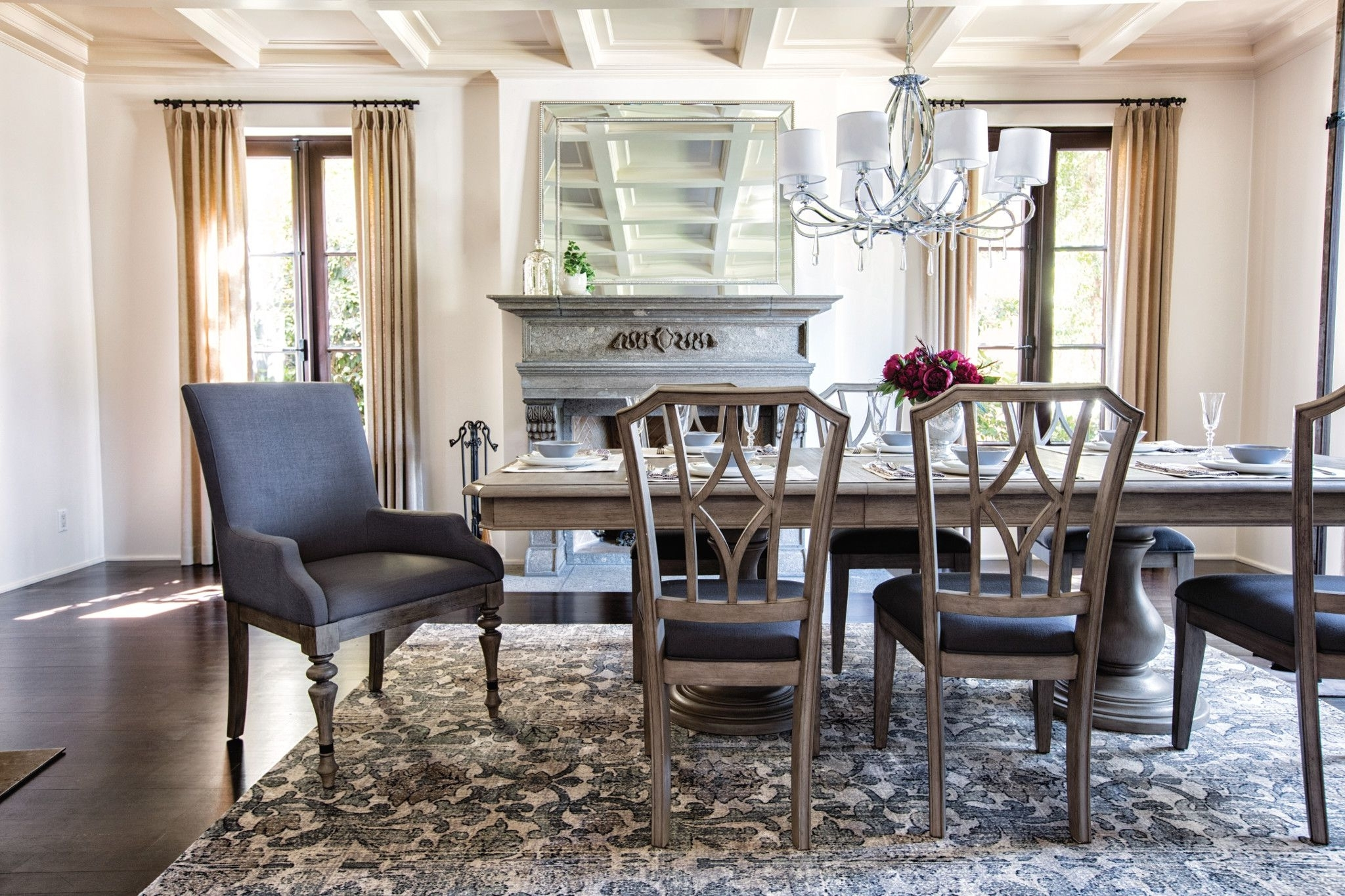 Newport With Regard To Most Up To Date Caira 9 Piece Extension Dining Sets With Diamond Back Chairs (View 3 of 25)