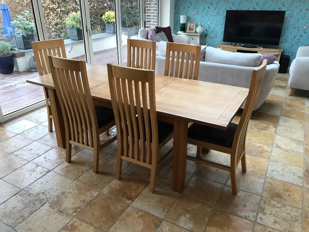 Next Cambridge Solid Oak Extending Dining Table With 6 Chairs With Most Up To Date Cambridge Dining Tables (Gallery 8 of 25)