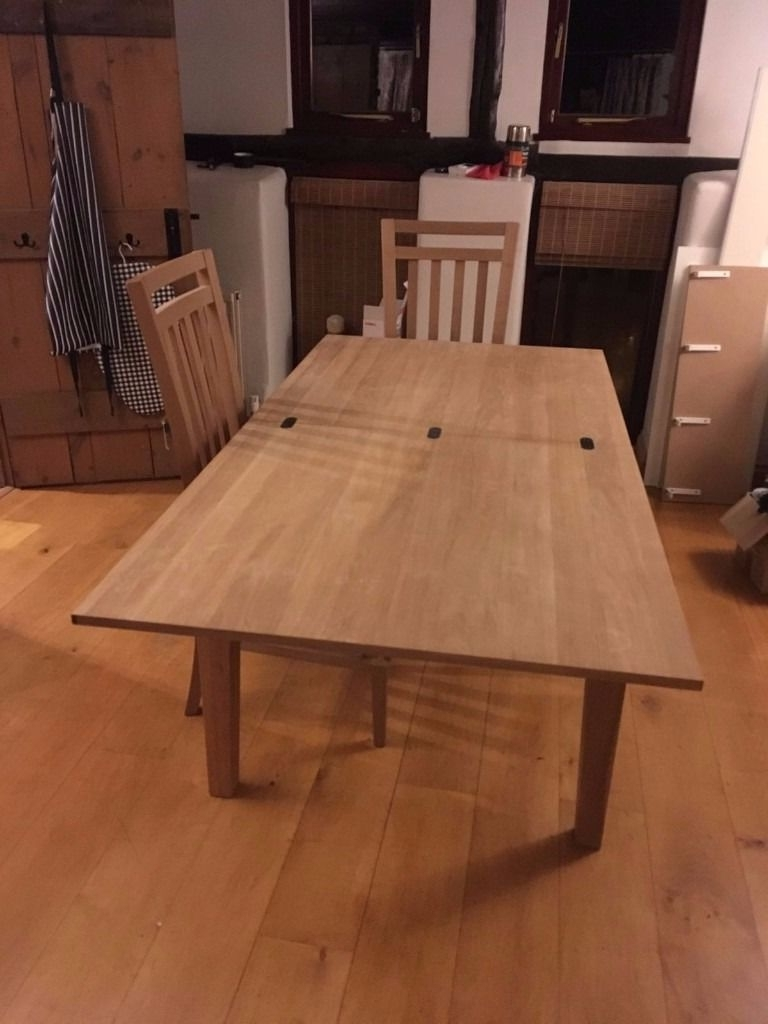 Next Solid Wood Folding Dining Table Seats 6 8 And 2 Chairs (View 13 of 25)