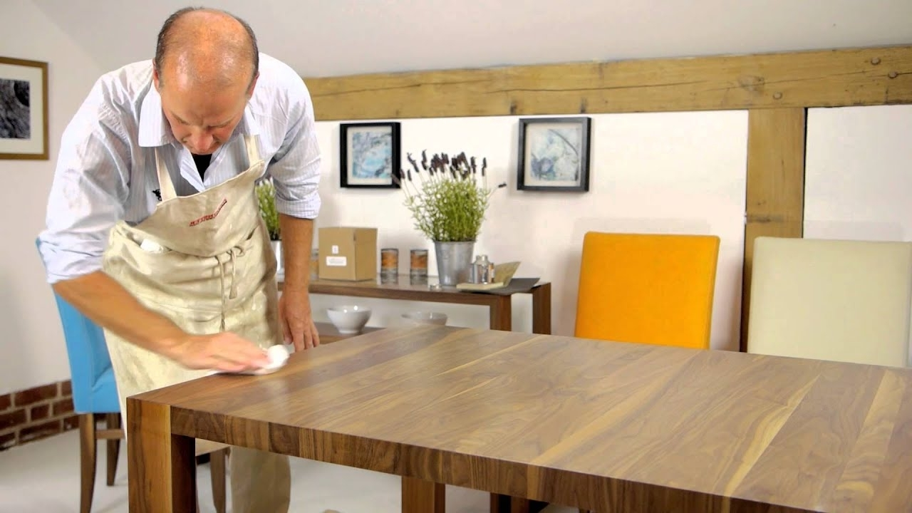 Non Wood Dining Tables Intended For Well Known How To Repolish Your Dining Table – Youtube (View 15 of 25)