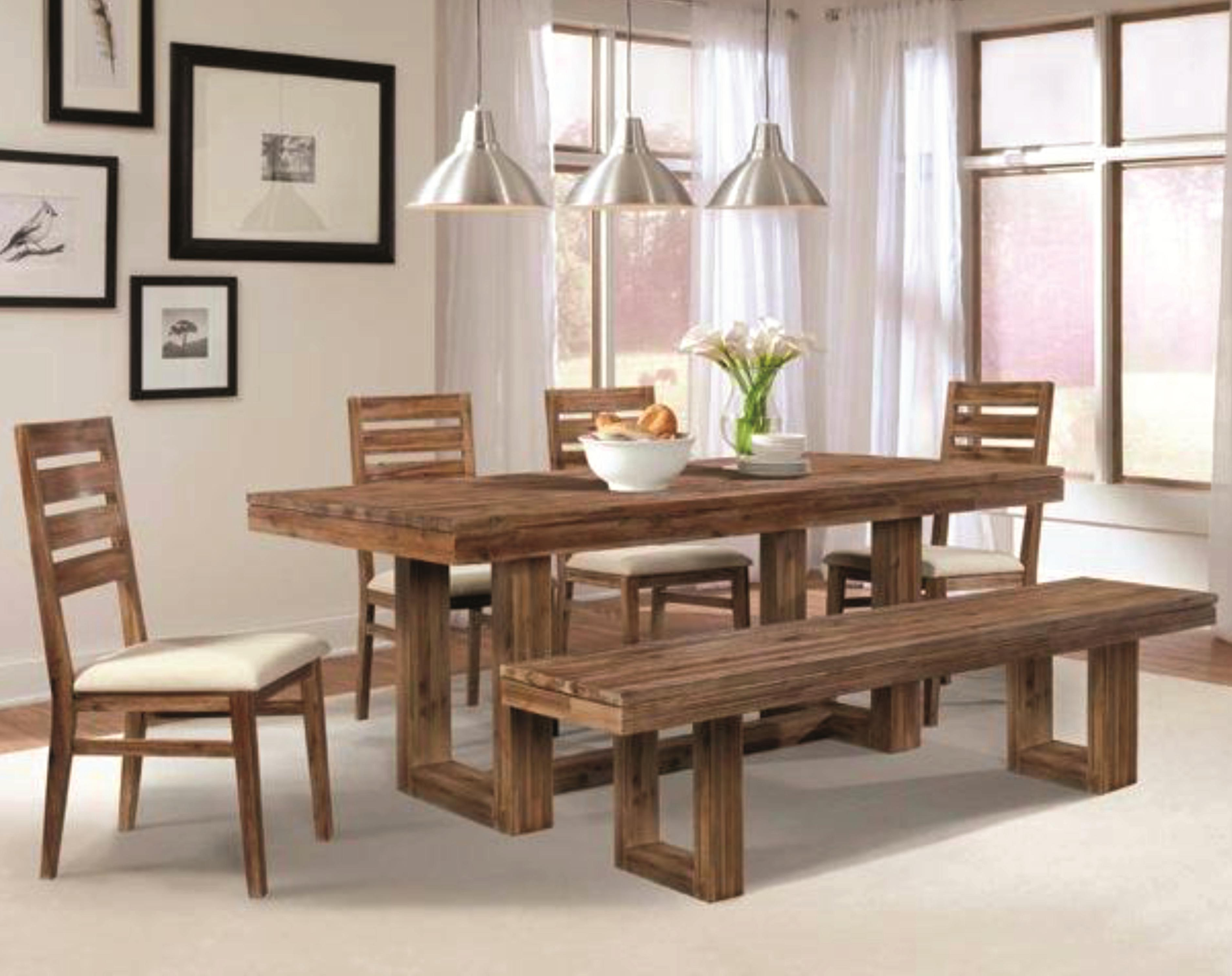 Non Wood Dining Tables Pertaining To Newest Open View Rustic Dining Room Using Wrought Iron Candle Chandelier (View 6 of 25)