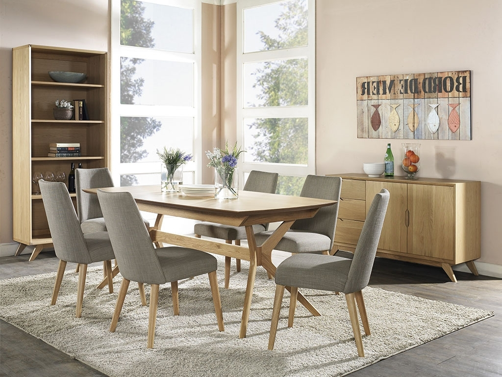 Nora Wooden Top 1.8M 2.2M Extendable Dining Table (Gallery 10 of 25)