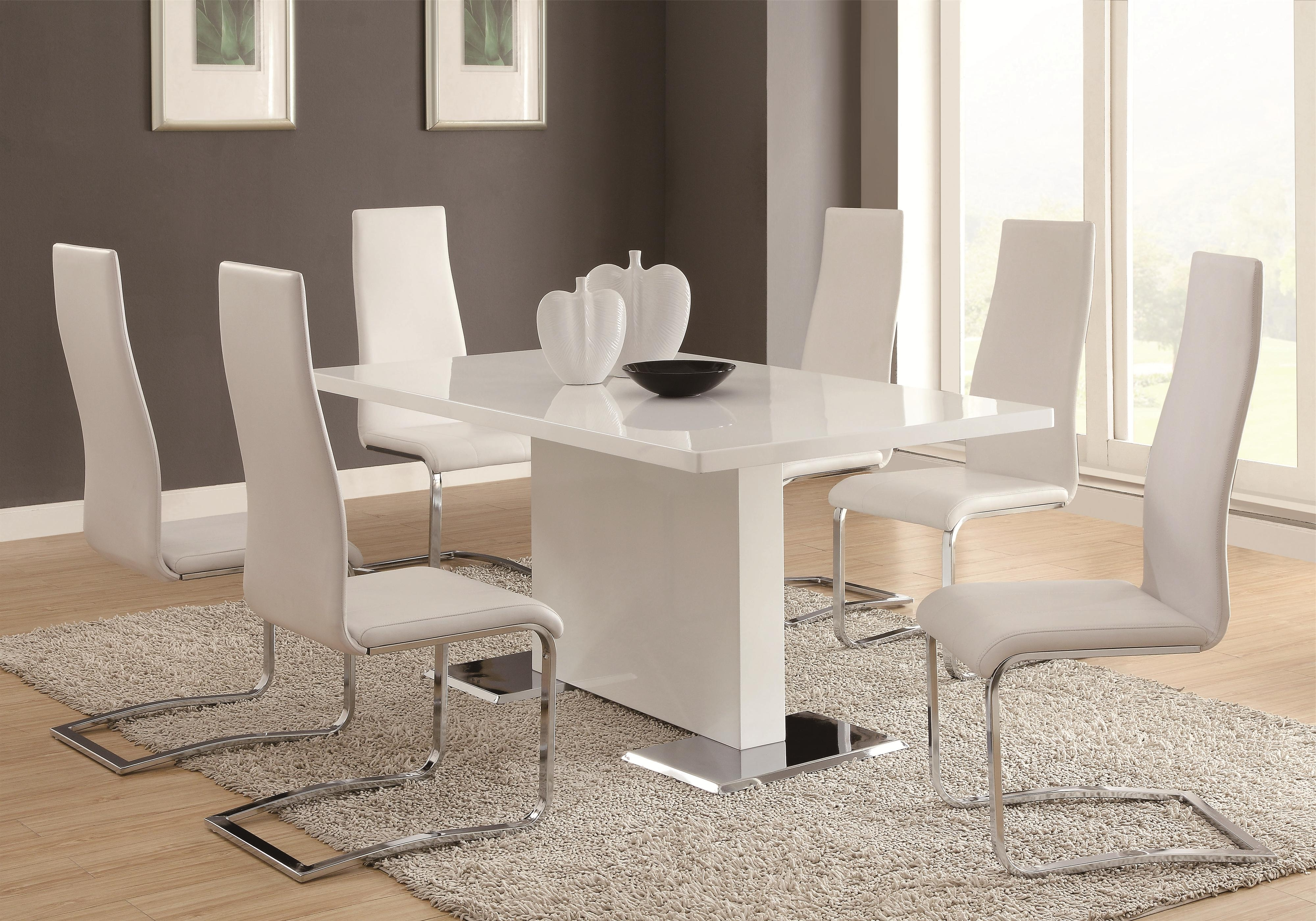 Featured Photo of White Dining Tables Sets