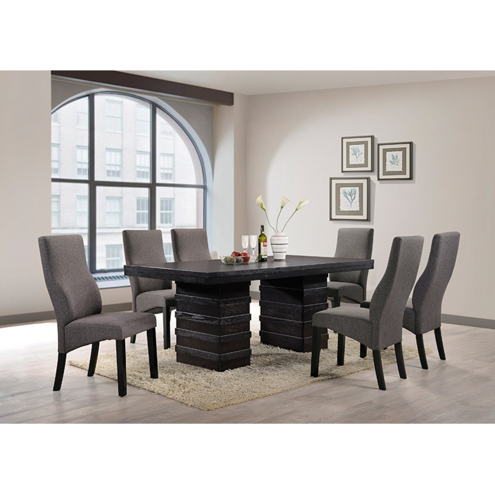 Norwood 6 Piece Rectangle Extension Dining Sets Inside Best And Newest K & B Furniture Norwood Dining Table – Walmart (View 4 of 25)