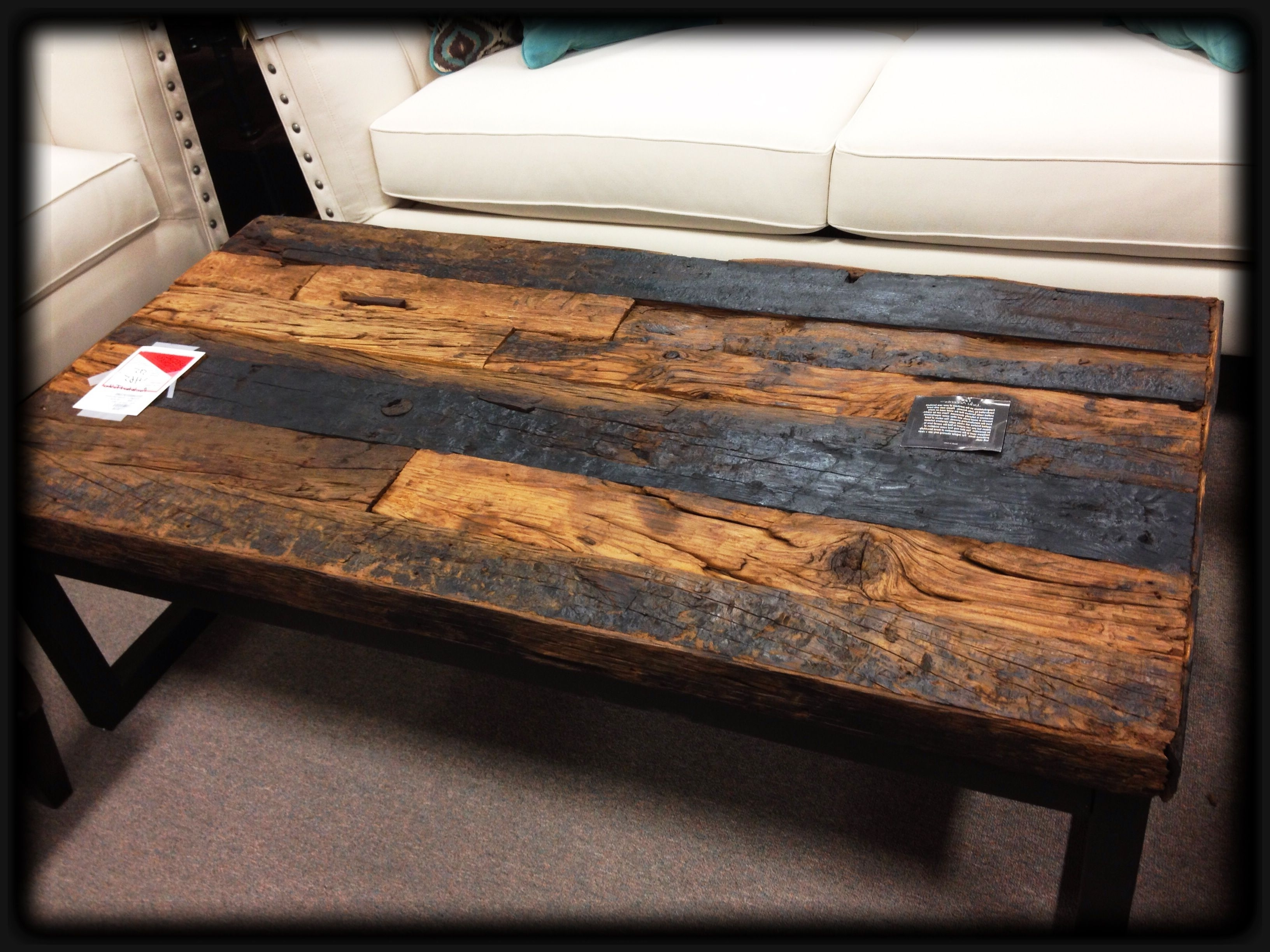 Norwood 6 Piece Rectangle Extension Dining Sets Throughout Most Recently Released Awesome, Coffee Table Made W Railroad Ties As Table Top. Want (View 17 of 25)