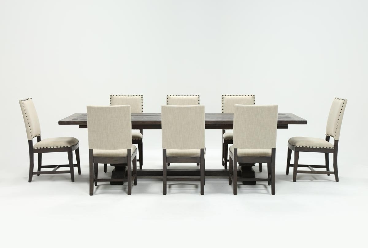 Norwood 6 Piece Rectangular Extension Dining Sets With Upholstered Side Chairs throughout Most Popular Norwood 9 Piece Rectangular Extension Dining Set With Uph Side