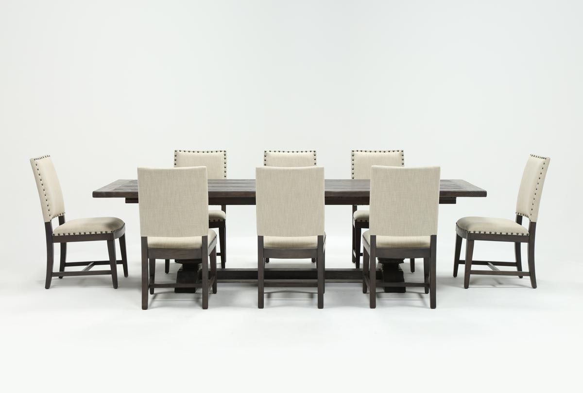 Norwood 9 Piece Rectangular Extension Dining Set With Uph Side For Famous Norwood Rectangle Extension Dining Tables (View 16 of 25)