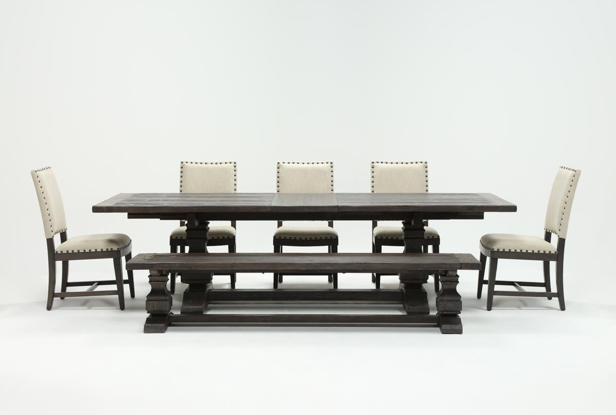 Norwood 9 Piece Rectangular Extension Dining Sets With Uph Side Chairs Within Most Recently Released Norwood 7 Piece Rectangular Extension Dining Set With Bench & Uph (View 23 of 25)