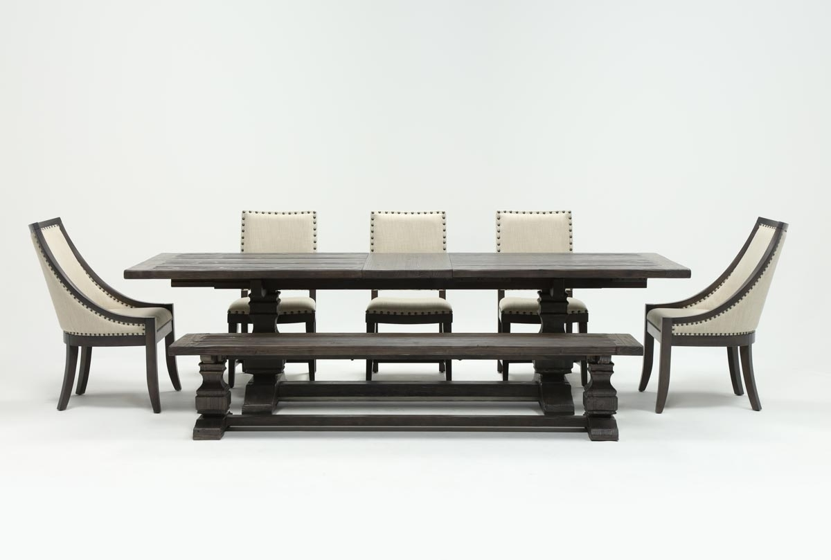 Norwood Rectangle Extension Dining Tables For Most Popular Norwood 7 Piece Rectangular Extension Dining Set With Bench, Host (View 3 of 25)