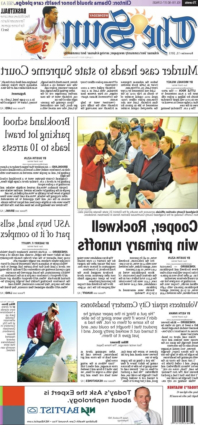 Nov. 13, 2013The Jonesboro Sun - Issuu pertaining to Well-liked Magnolia Home Taper Turned Jo's White Gathering Tables