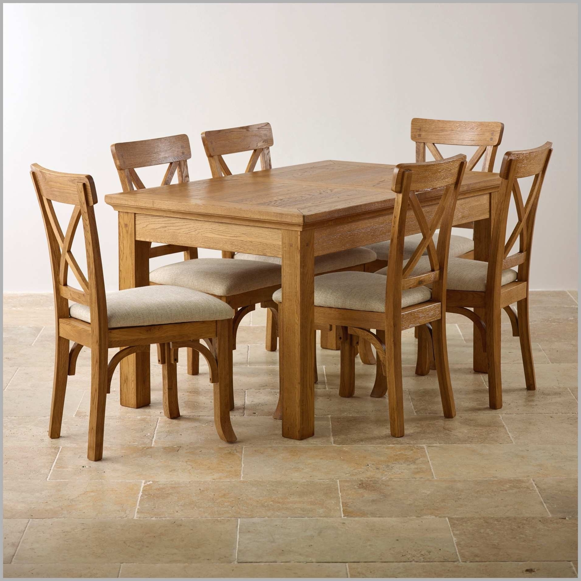 Oak 6 Seater Dining Tables Regarding Trendy The 24 Elegant Solid Oak Round Dining Table 6 Chairs (View 18 of 25)