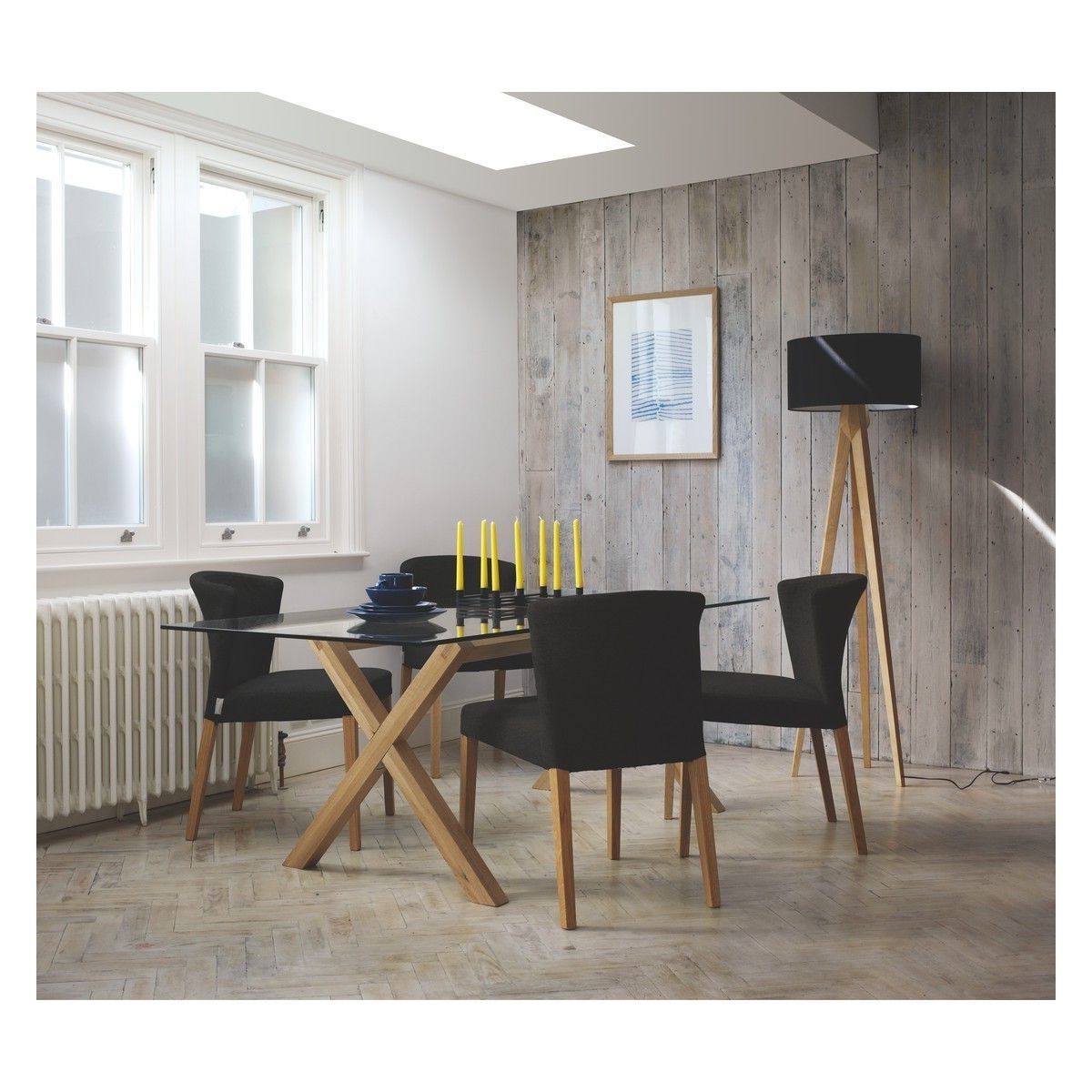 Oak 6 Seater Dining Tables With Fashionable Dublin 6 Seater Dining Set With Dublin 200Cm Oak Table And  (View 10 of 25)