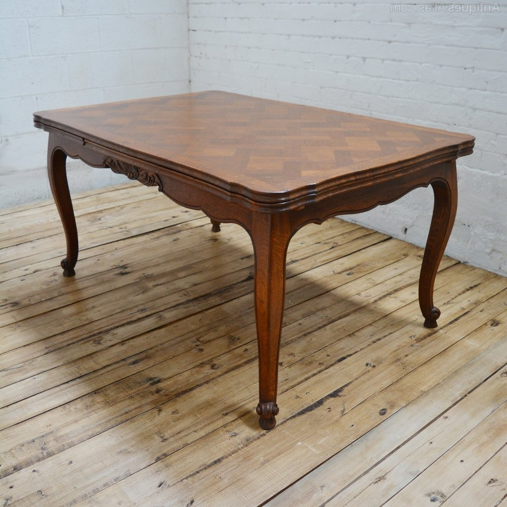 Oak 6 Seater Dining Tables With Regard To 2018 6 Seater Antique Parquetry French Oak Dining Table – Antiques Atlas (View 15 of 25)