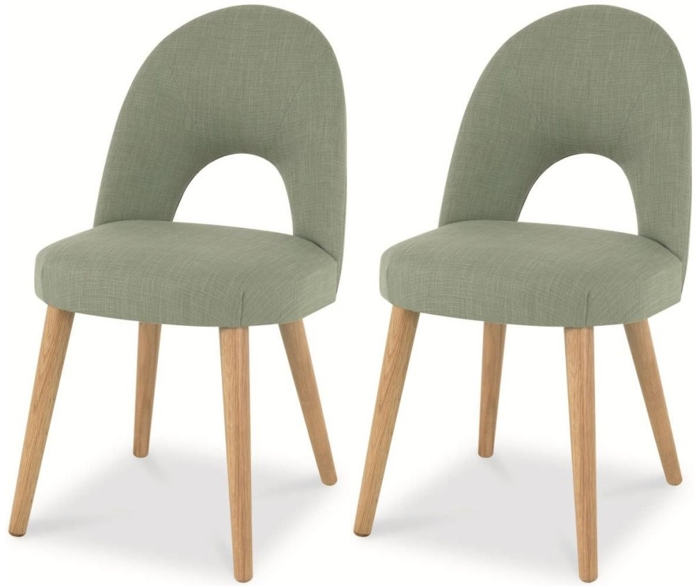 Oak Dining Chairs In Most Up To Date Buy Bentley Designs Oslo Oak Aqua Fabric Upholstered Dining Chair (View 17 of 25)