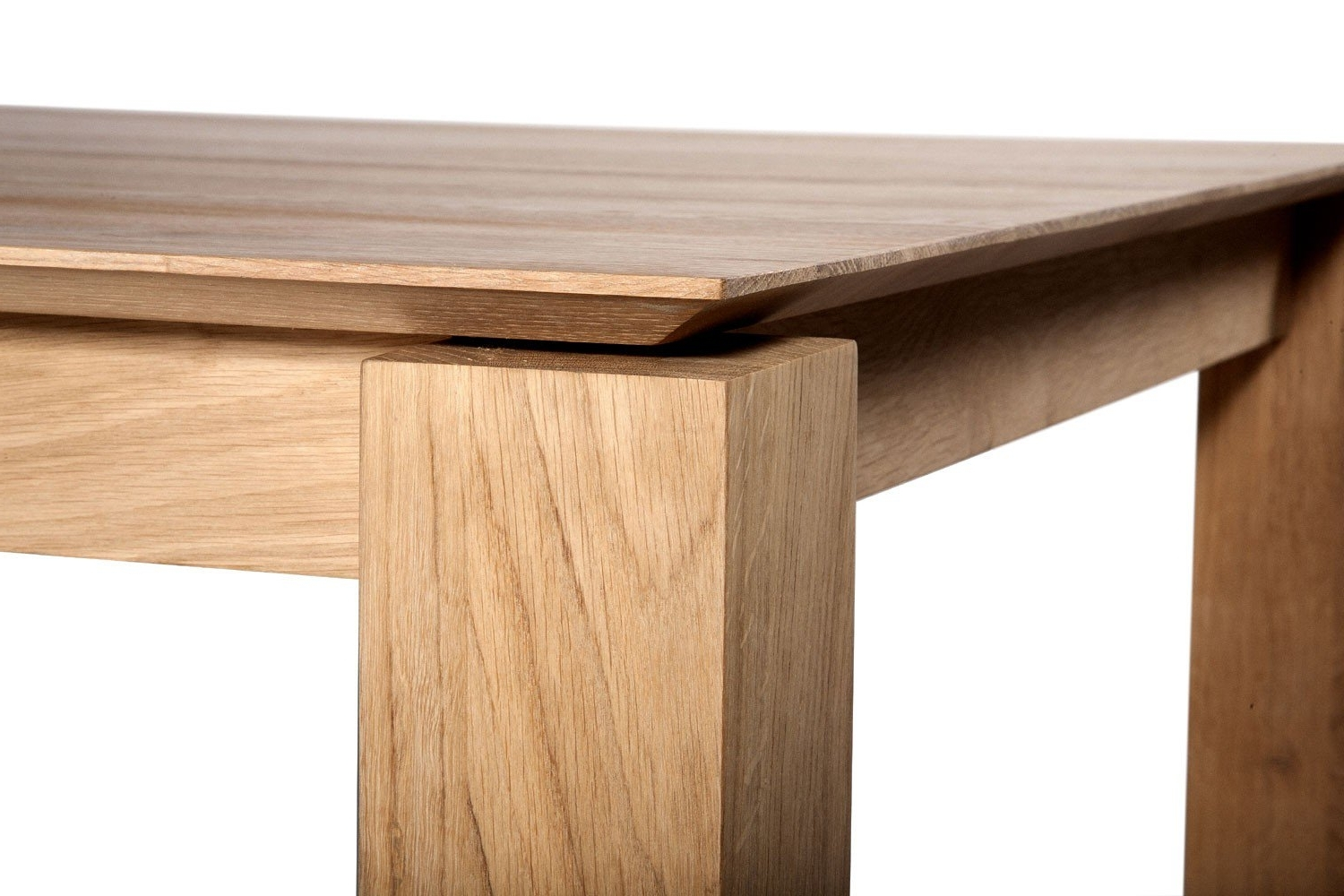 Oak Dining Furniture Intended For Famous Ethnicraft Slice Oak Dining Tables (View 16 of 25)