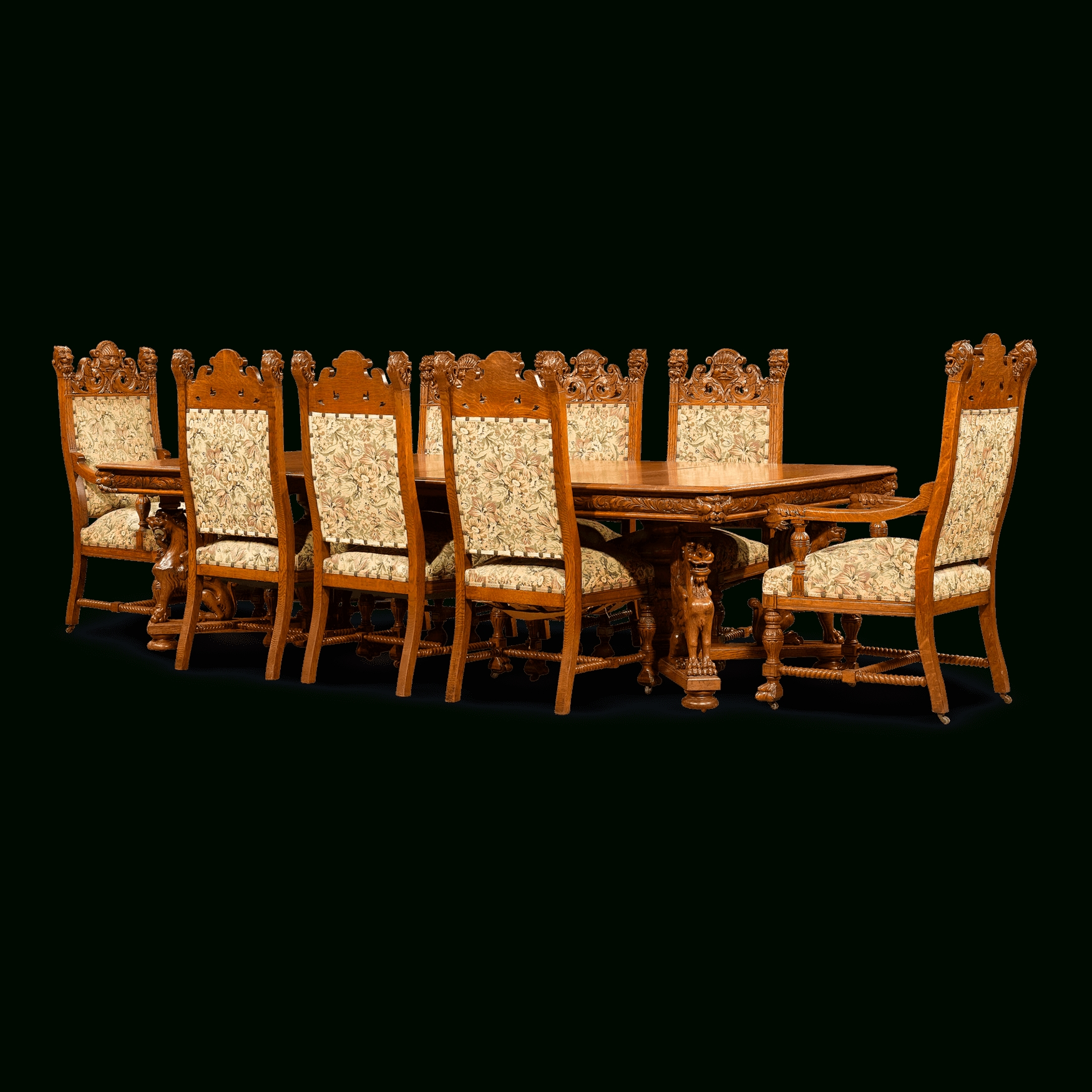 Oak Dining Suite For 2017 Antique Furniture – American Furniture – Dining Set – Horner (View 15 of 25)
