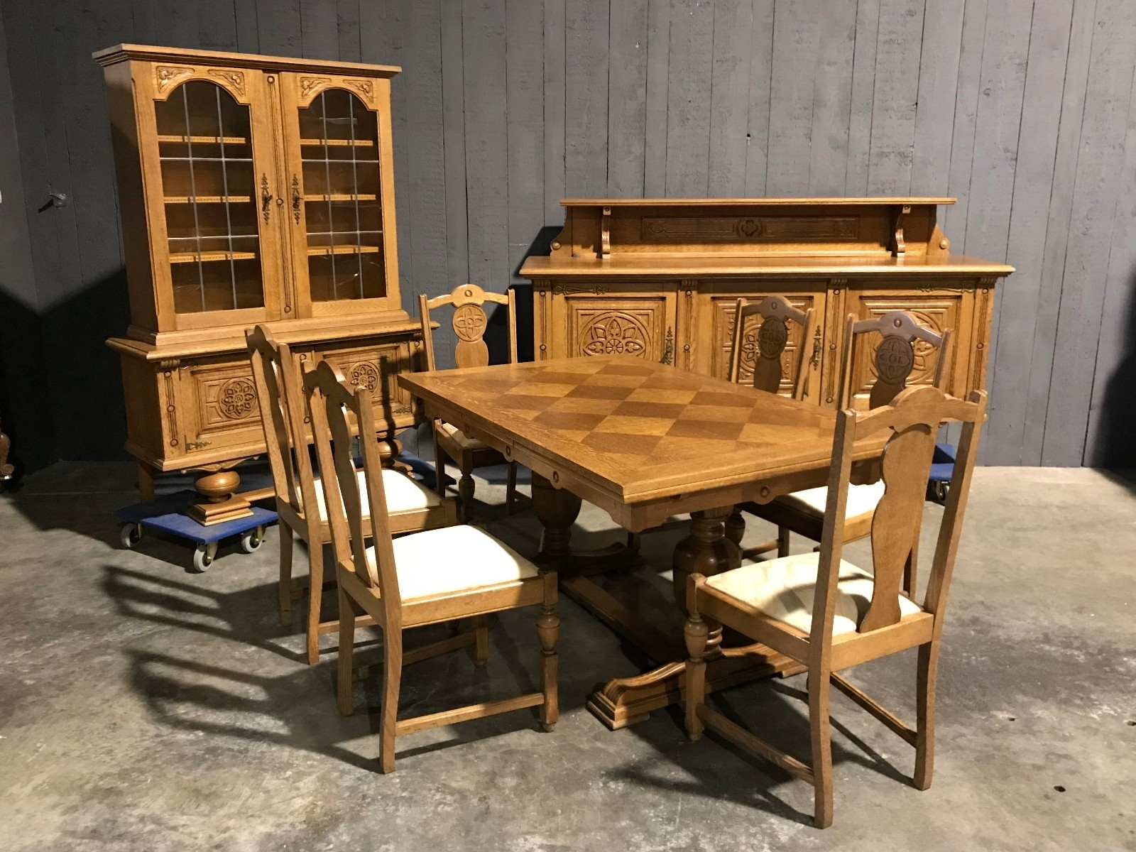 Oak Dining Suites In Well Known Oak Dining Room Suite Néorenaissance – Dining Room Suites – Antiques (View 19 of 25)