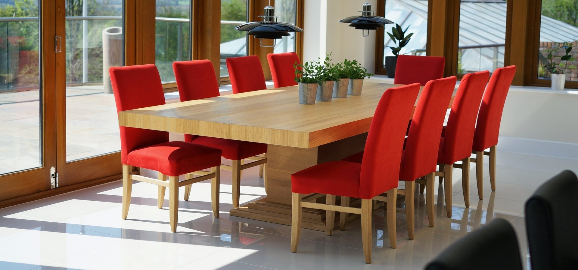 Oak Dining Suites Intended For Recent Contemporary Dining Tables & Furnitureberrydesign (View 18 of 25)