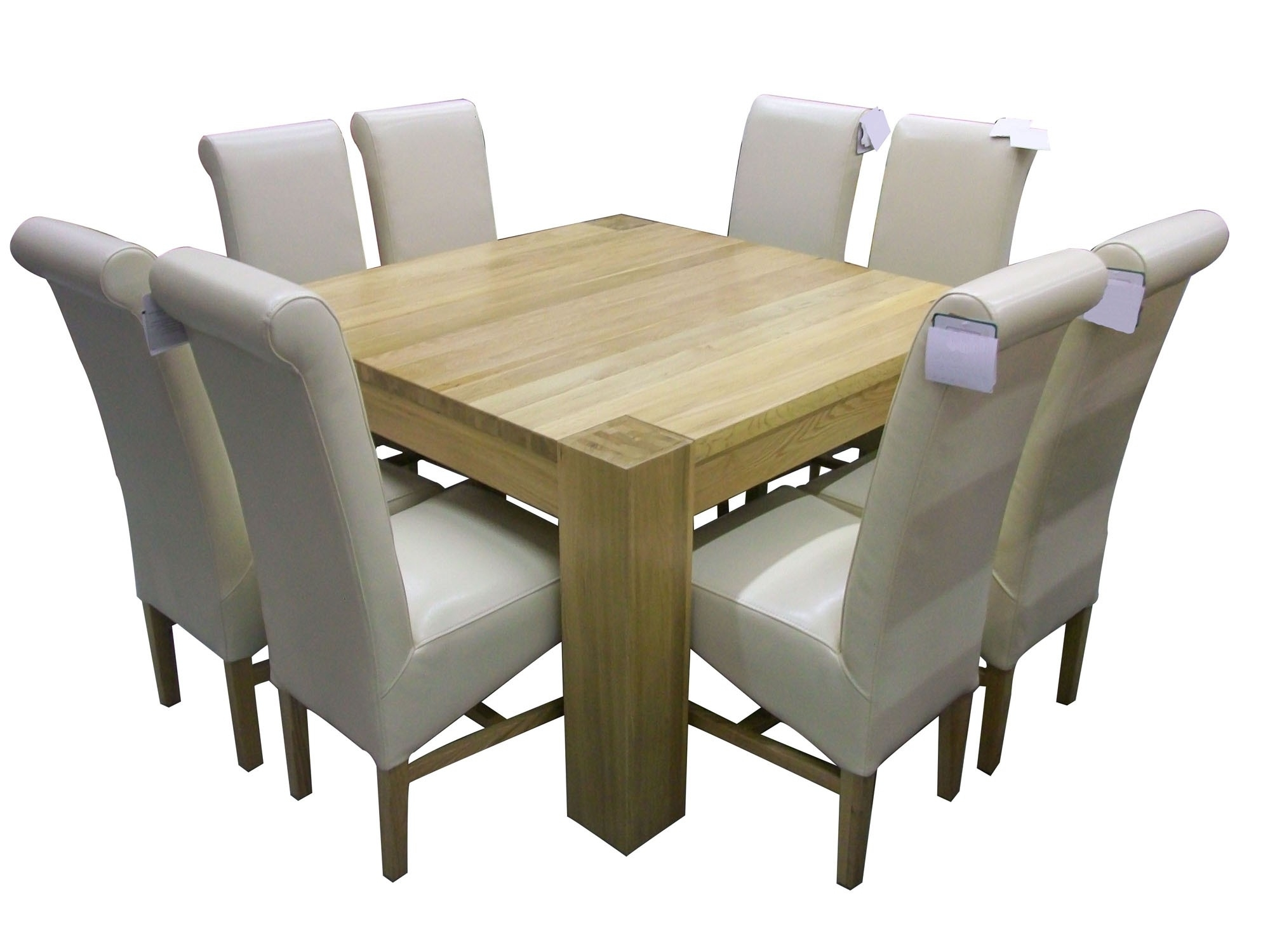 Oak Dining Tables 8 Chairs Inside Latest Solid Oak Dining Room Table And 8 Chairs Inspirational White Square (View 20 of 25)