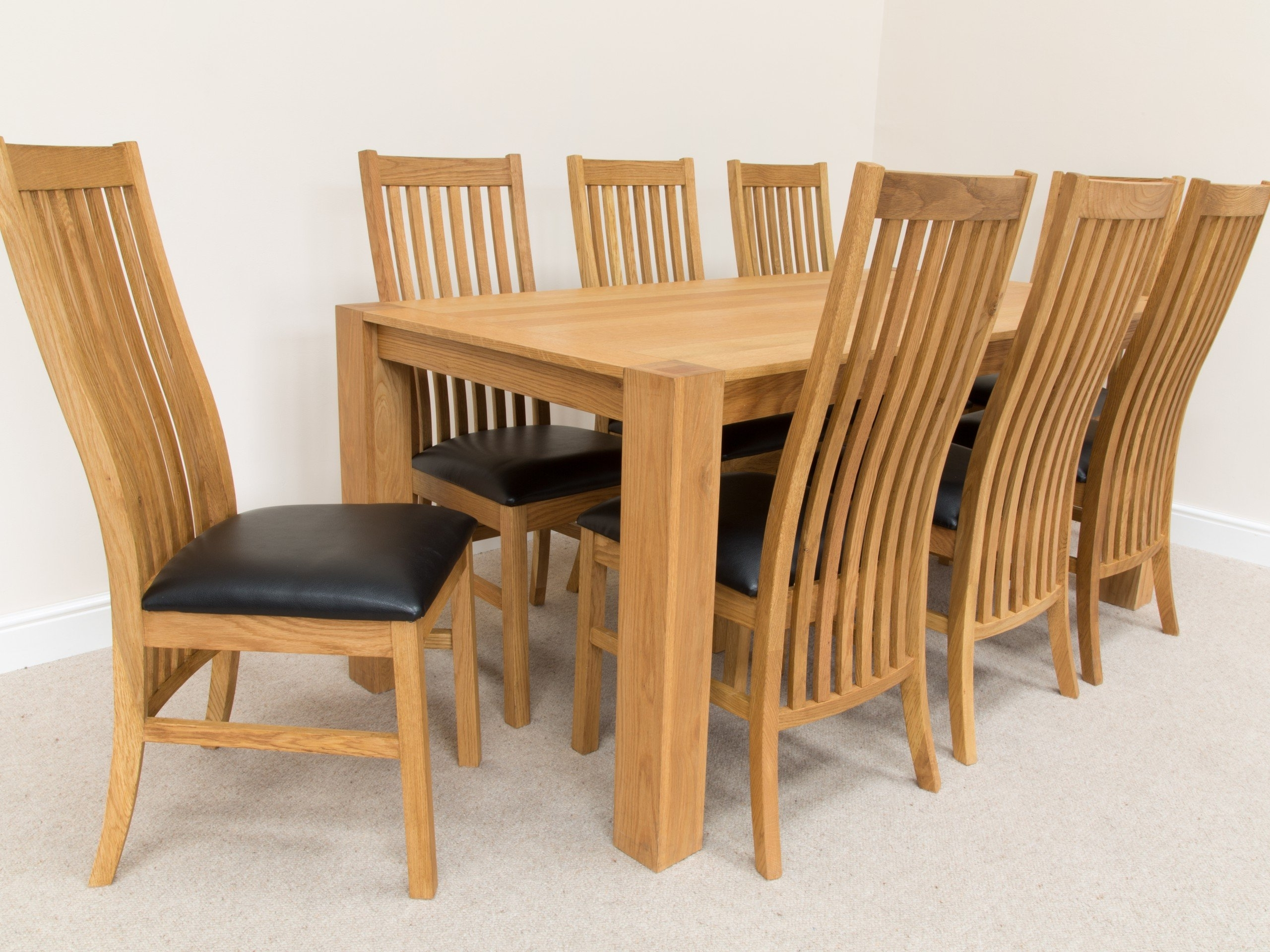 Oak Dining Tables And 8 Chairs Regarding Widely Used Dining Room Table : Square Oak Dining Table For 8 Modern Dining (View 17 of 25)