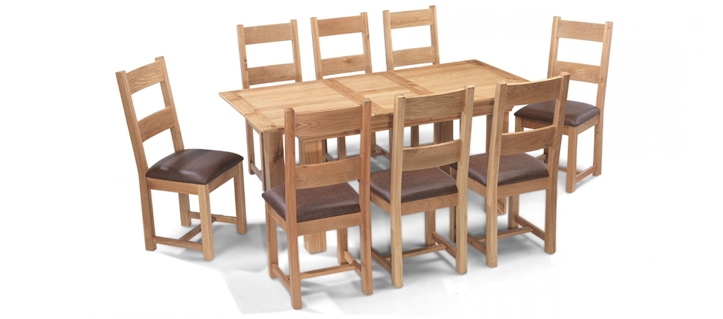 Oak Dining Tables And 8 Chairs Within Most Recently Released Constance Oak 140 180 Cm Extending Dining Table And 8 Chairs (View 21 of 25)