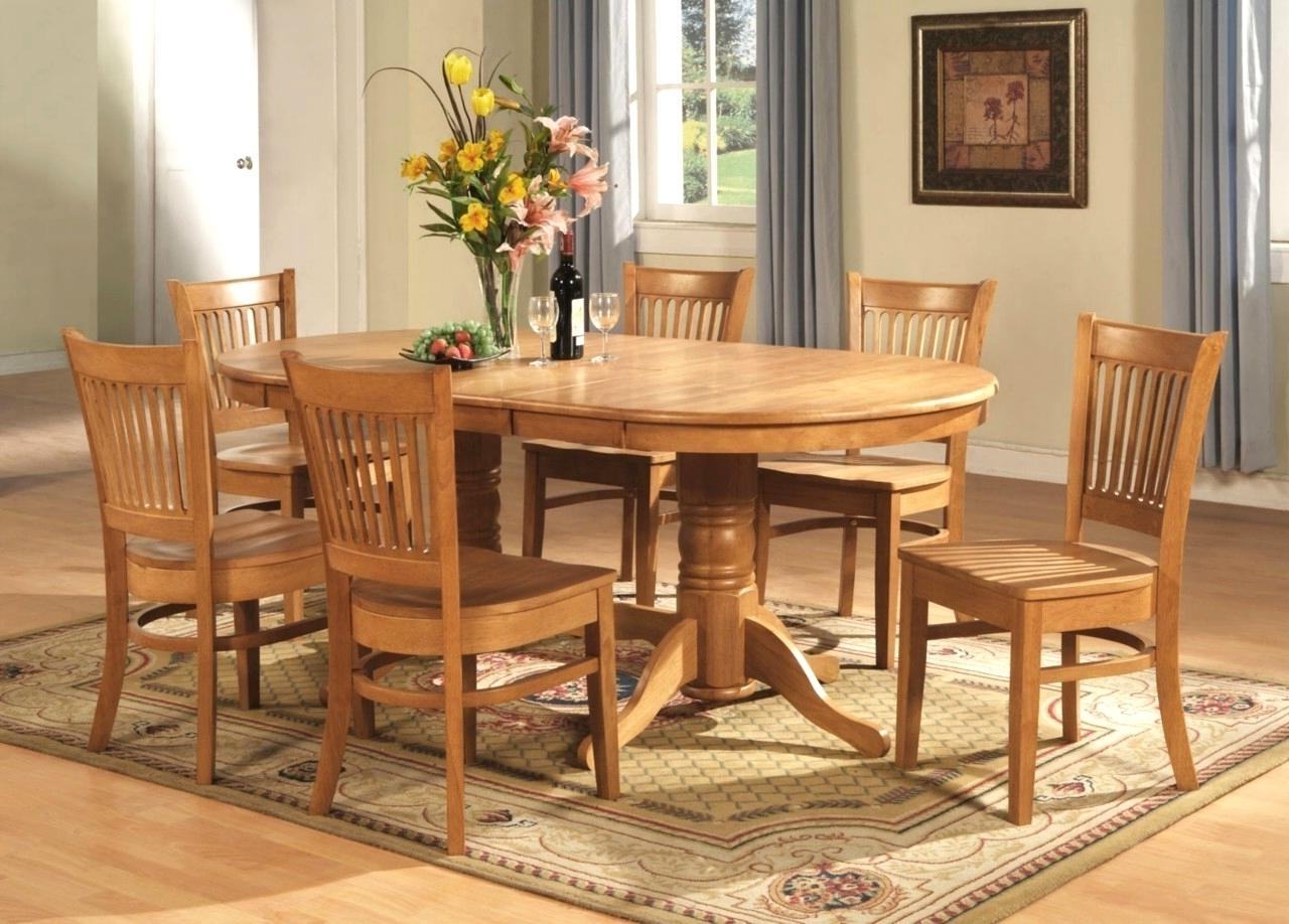 Oak Dining Tables And Chairs With Well Known Improbable Oval Oak Dining Table Chairs Oval Dining Room Table Sets (View 19 of 25)