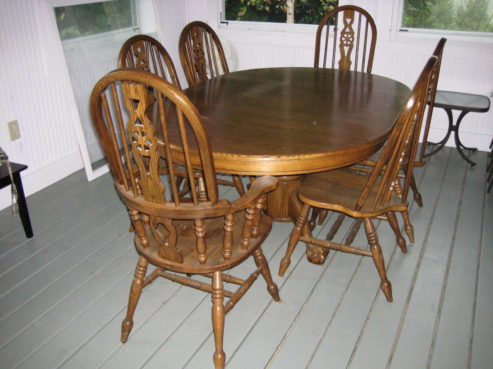 Oak Dining Tables Sets Regarding Famous (View 21 of 25)