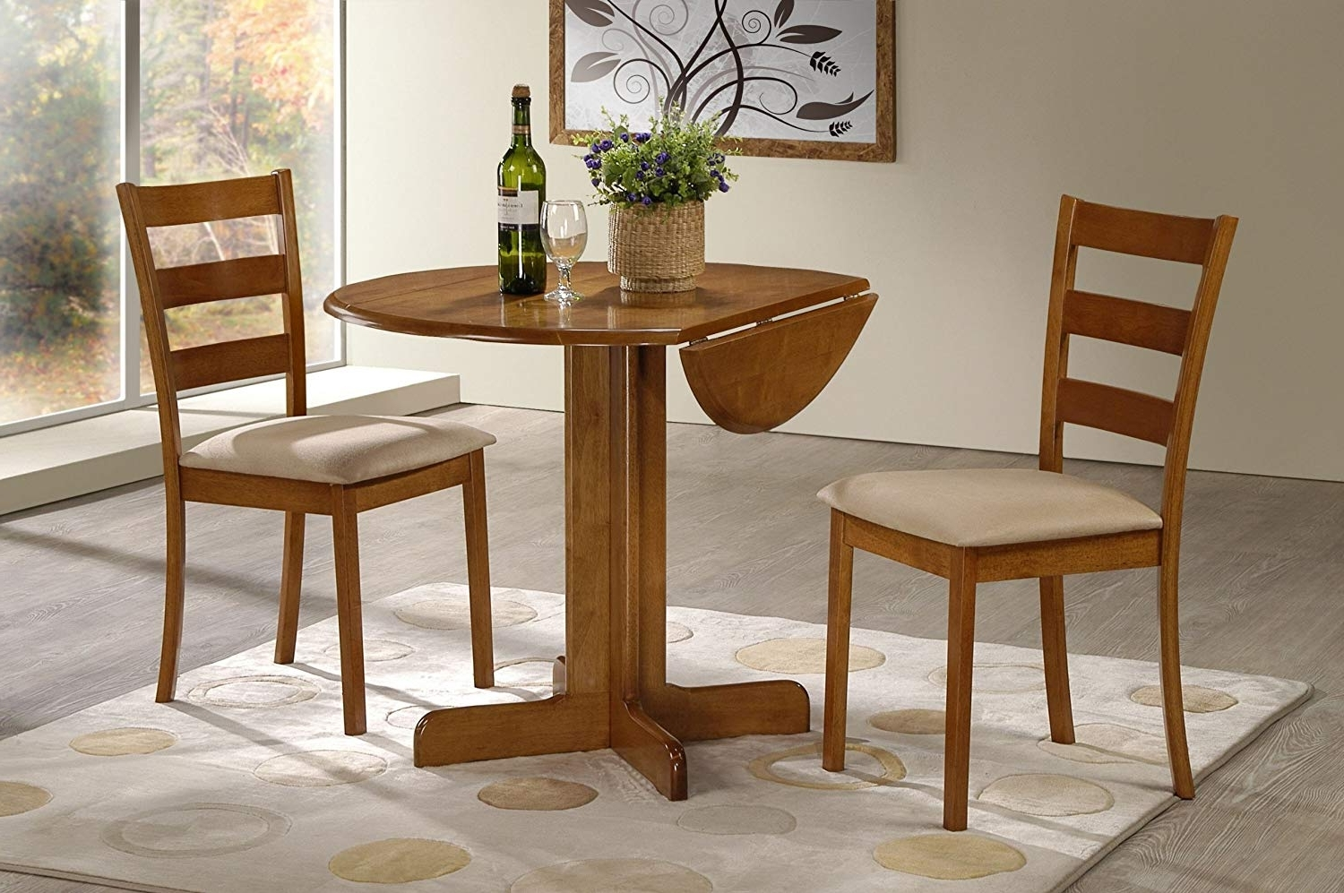Oak Dining Tables Sets With Well Known Amazon – 3 Piece Dining Set (View 25 of 25)