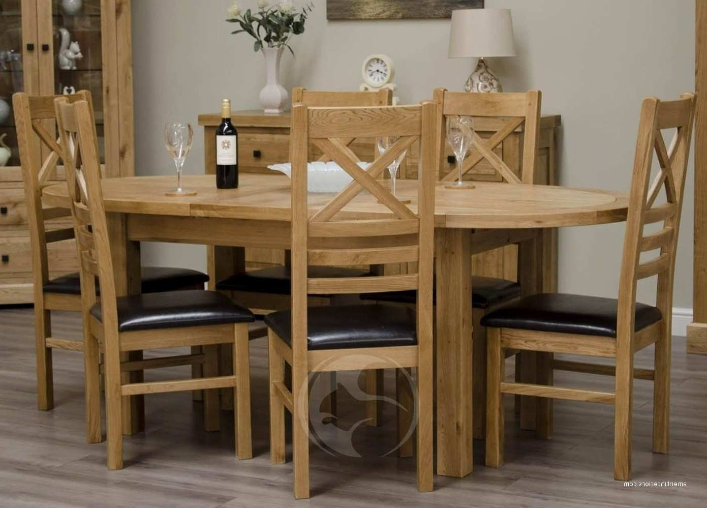 Oak Extendable Dining Tables And Chairs Pertaining To Well Known Loire Oak Oval Extending Dining Table – Dining Room Ideas (View 8 of 25)
