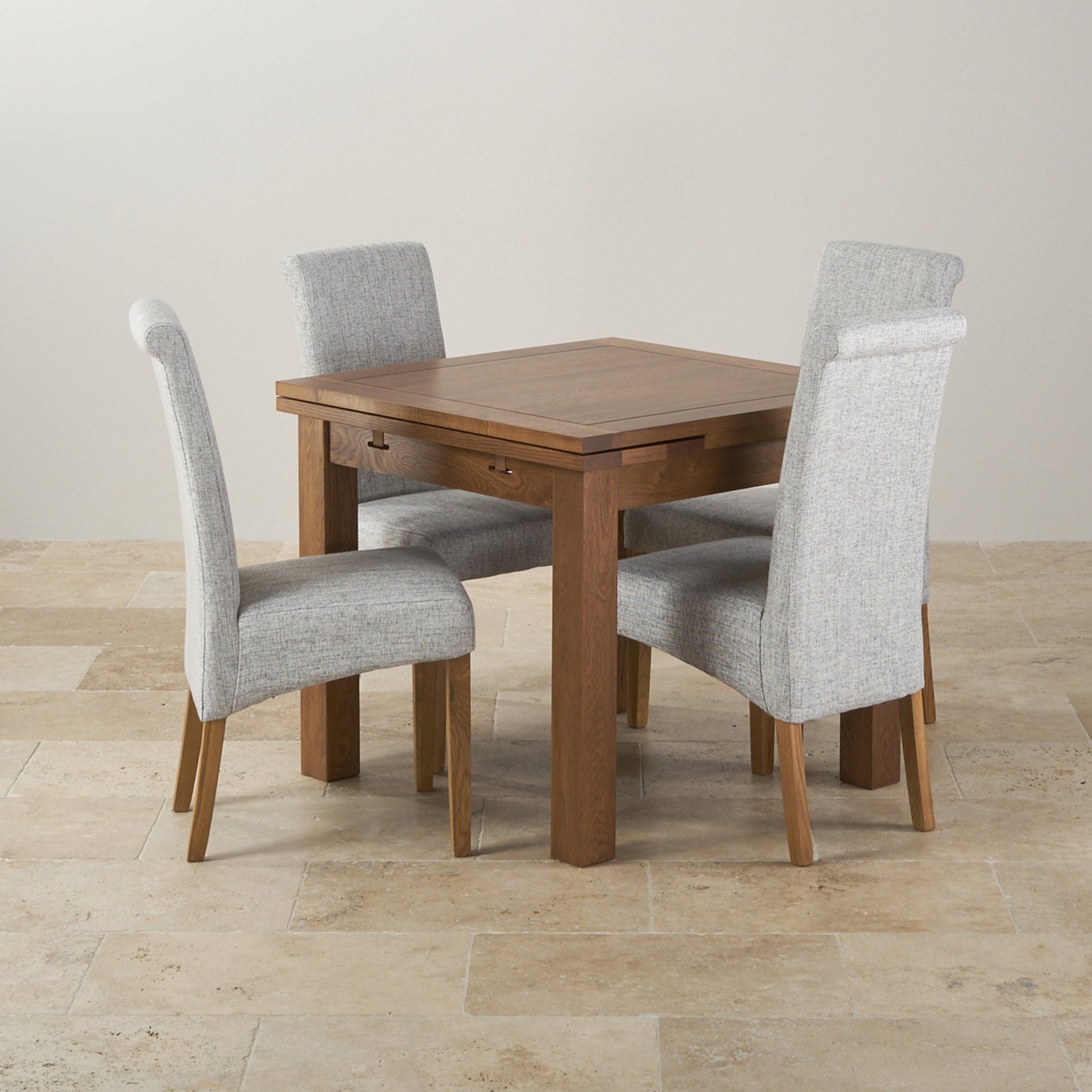 Oak Extendable Dining Tables And Chairs Within Popular London Dark Oak Ex Solid Oak Extending Dining Table And 4 Chairs (View 13 of 25)