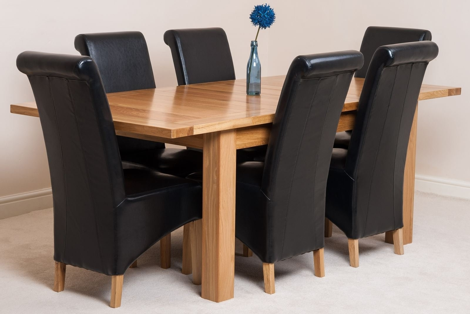 Oak Extending Dining Tables And 4 Chairs With Regard To Trendy Seattle Solid Oak Extending Dining Table With 4 Or 6 Washington (View 14 of 25)