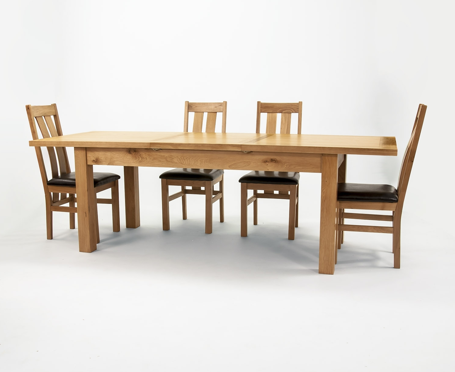 Oak Extending Dining Tables And 6 Chairs Within Well Known Solid Oak Extend Table 78X180+6 Chairs (View 11 of 25)