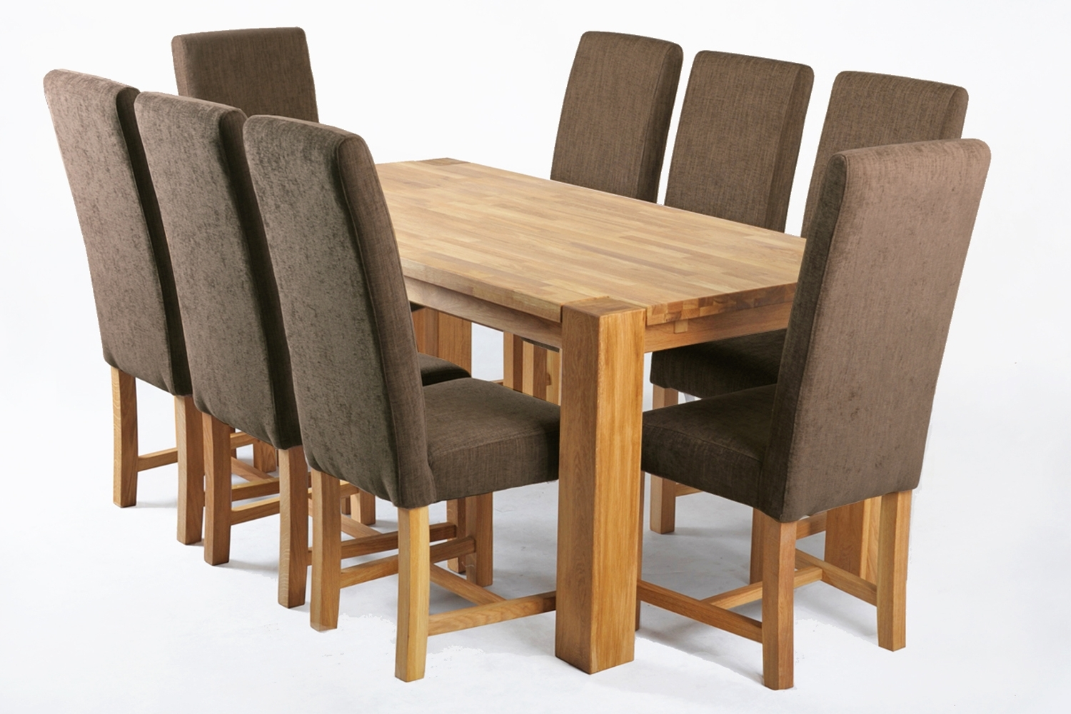 Oak Fabric Dining Chairs With 2018 Kensington Fabric Dining Chair With Massive Oak Legs Nut White (View 2 of 25)