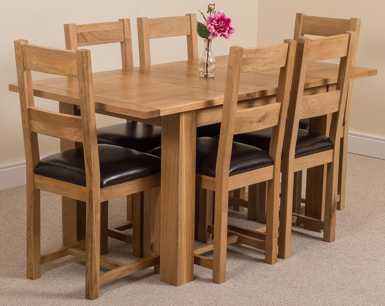 Oak Furniture King Intended For Extending Oak Dining Tables And Chairs (View 7 of 25)