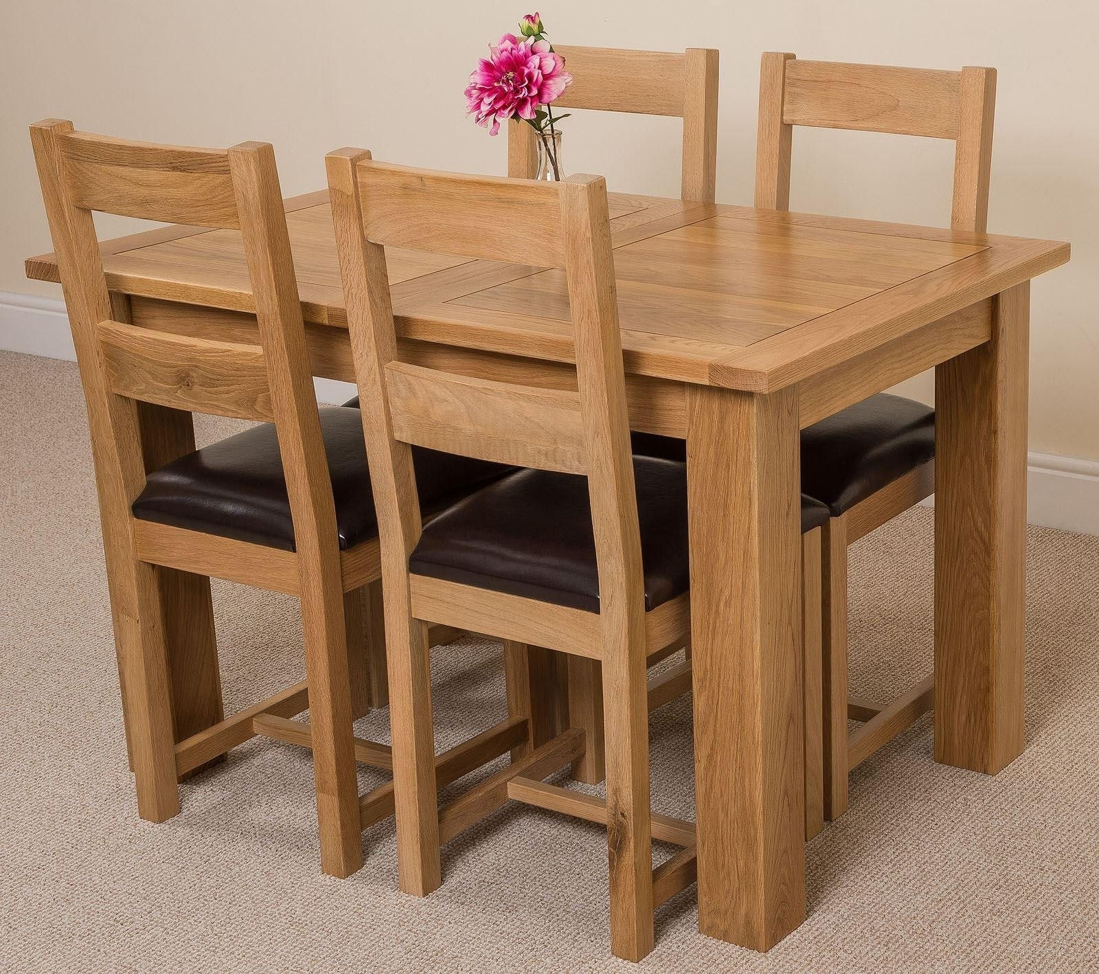 Oak Furniture King Regarding Favorite Oak Extending Dining Tables And 4 Chairs (View 12 of 25)