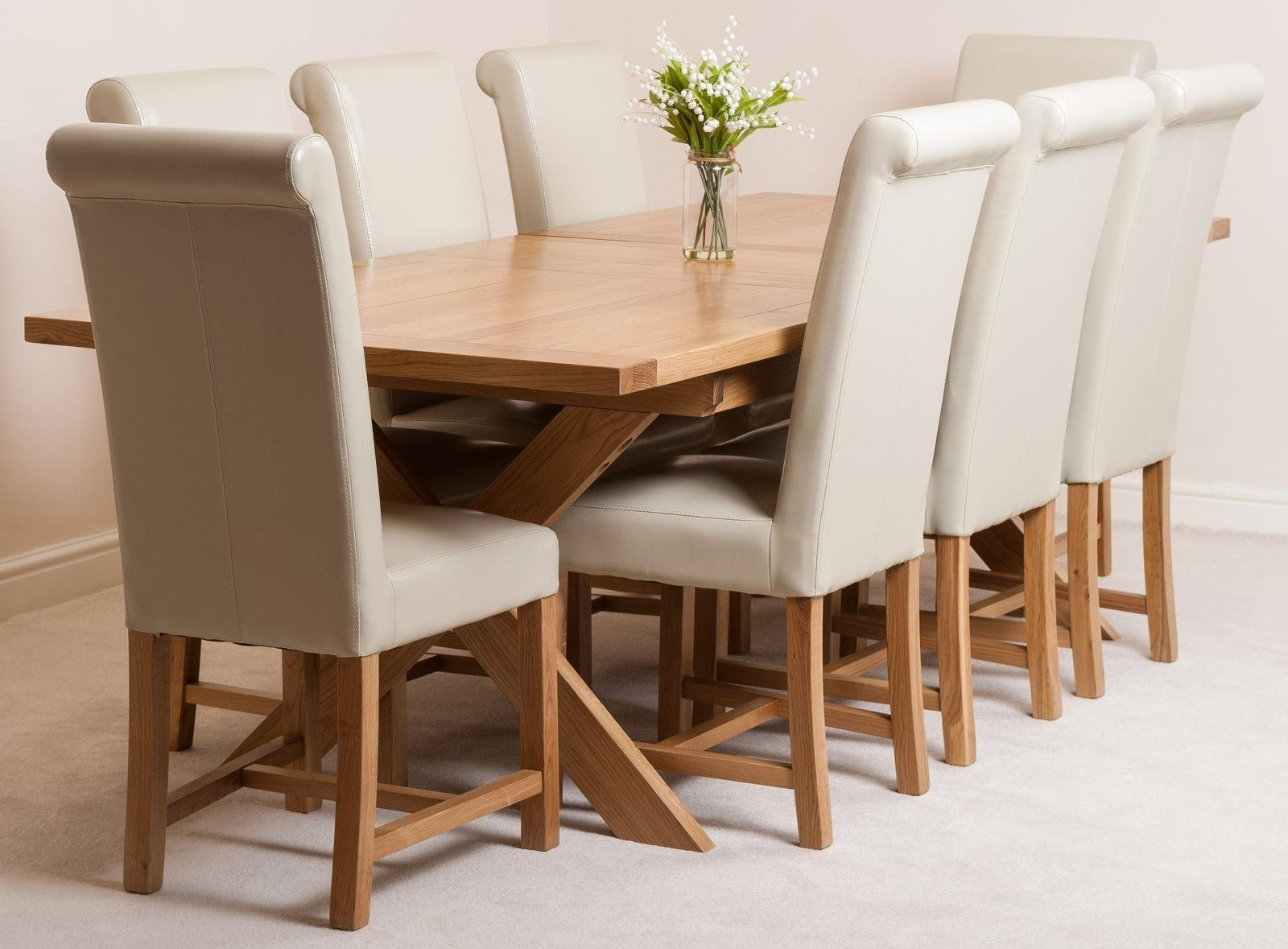 Oak Furniture King With Most Up To Date Oak Extending Dining Tables And 8 Chairs (View 7 of 25)
