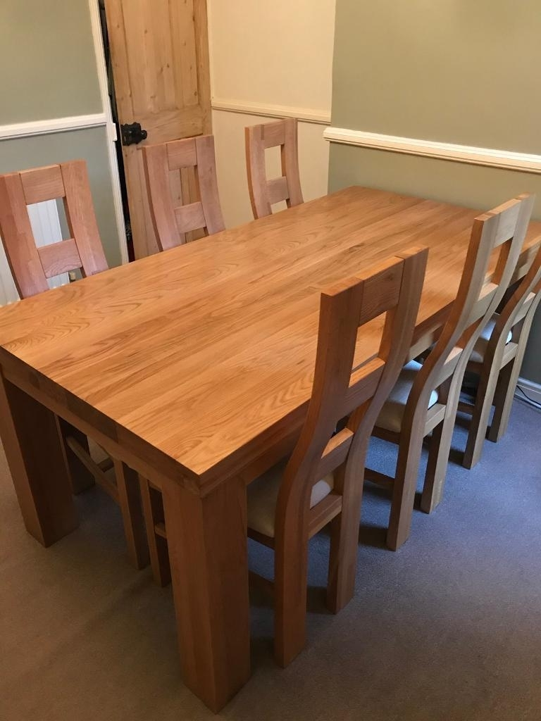 Oak Furniture Land Fresco Dining Set (View 21 of 25)