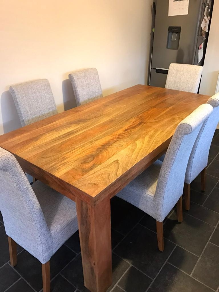 Oak Furniture Land Mantis Light Natural Solid Mango 6Ft X 3Ft Dining Inside 2018 3Ft Dining Tables (View 20 of 25)