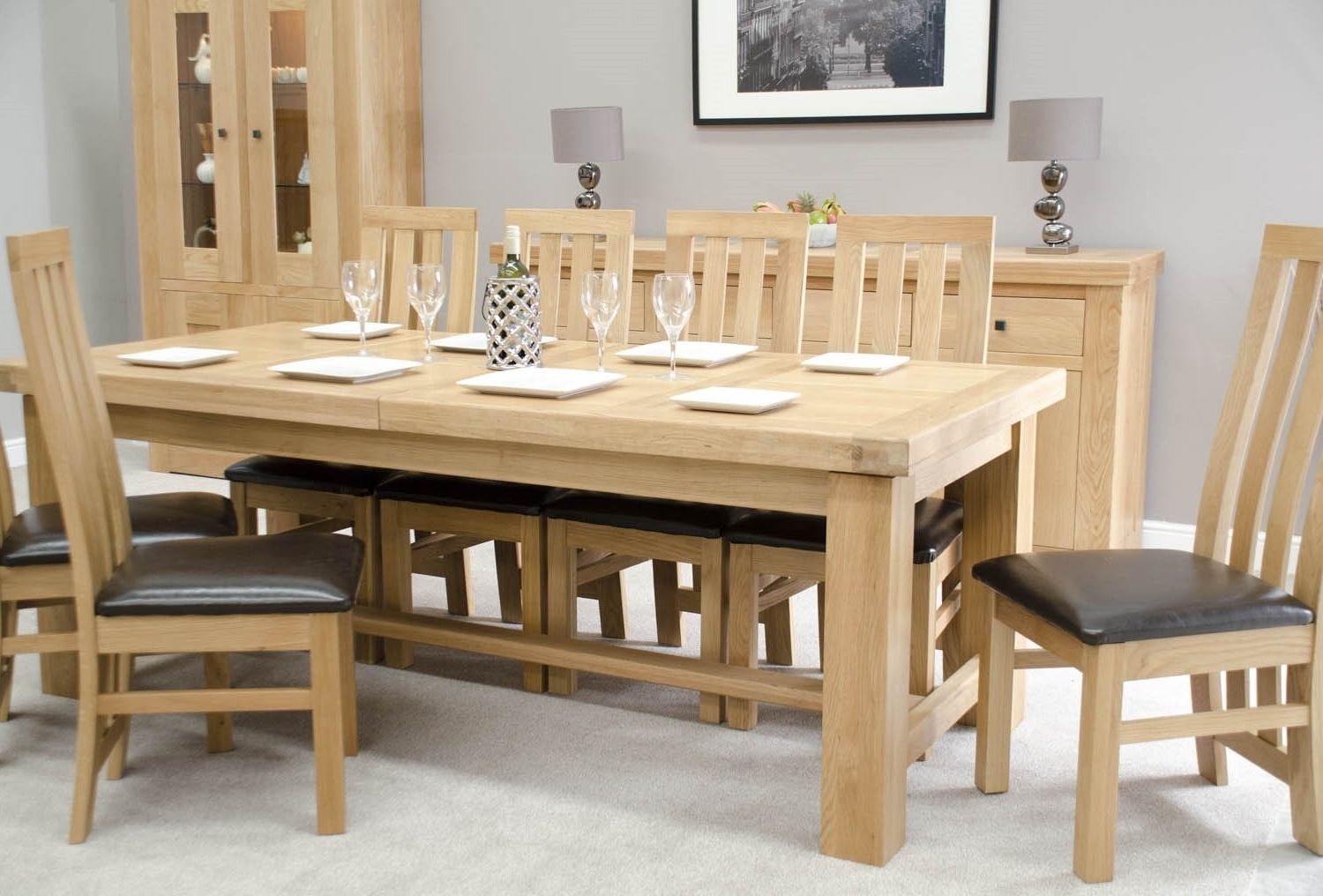 Oak Furniture Uk Inside French Extending Dining Tables (View 5 of 25)