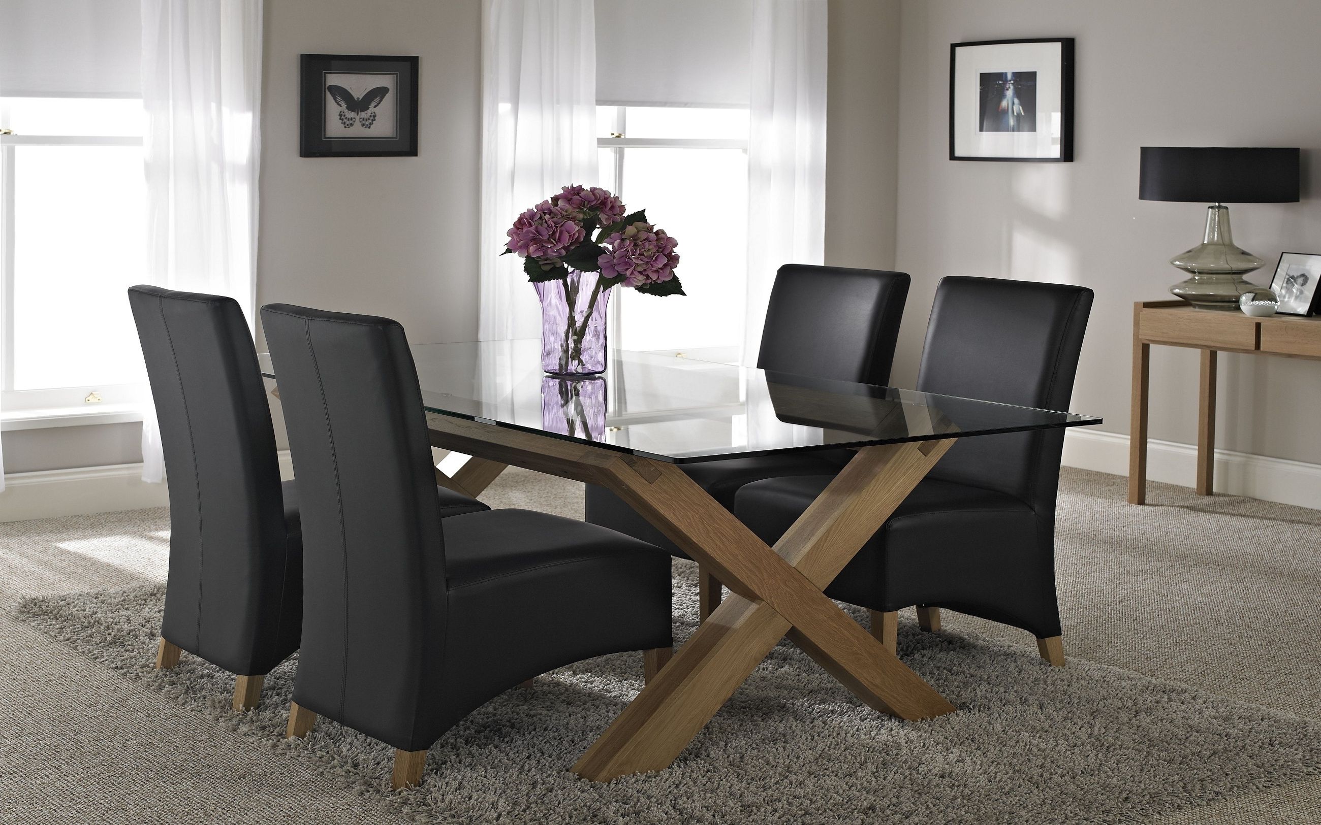 Oak Glass Dining Tables Regarding Fashionable Glass Dining Tables Buying Guide – (View 7 of 25)