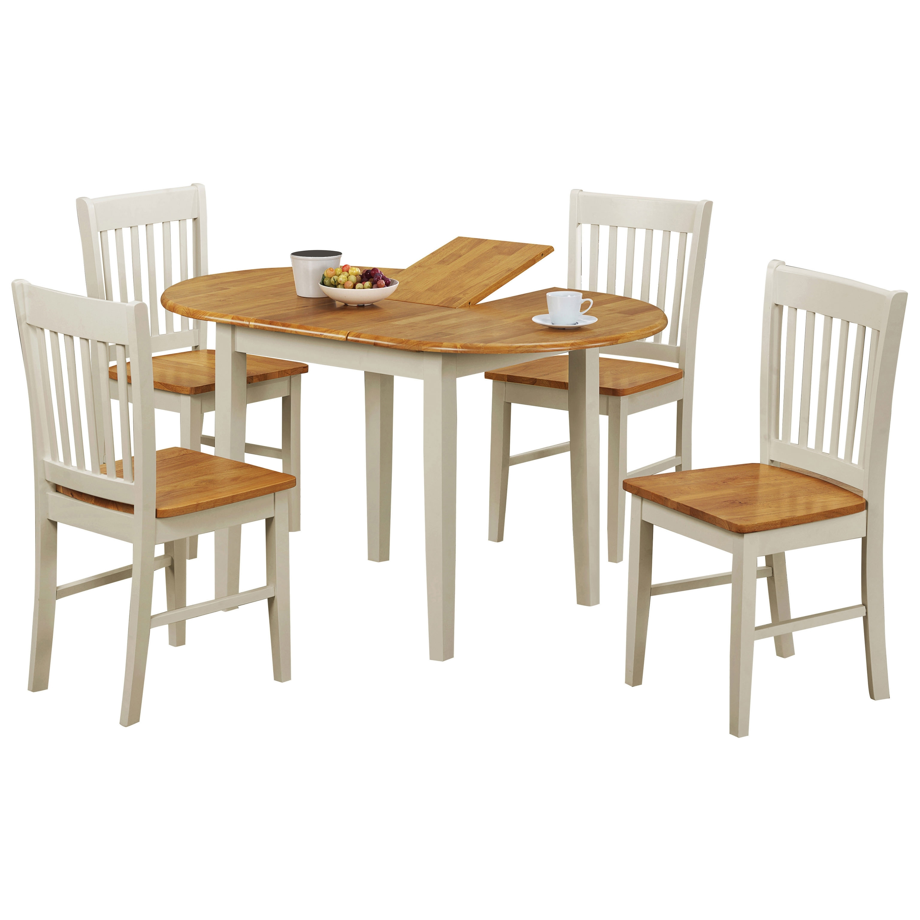 Oak & White Oval Extending Extendable Dining Table And Chair Set Regarding Most Current Oval Oak Dining Tables And Chairs (View 8 of 25)