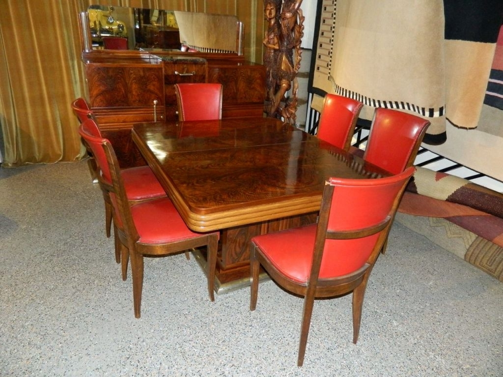 Original French Art Deco Modernist Dining Suite, 1930S At 1Stdibs Intended For Well Known Modern Dining Suites (View 21 of 25)