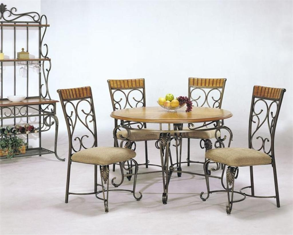 Ornate Wrought Iron Chairs With Stylish Round Table For Outdoor With Regard To Most Recently Released Smartie Dining Tables And Chairs (View 13 of 25)