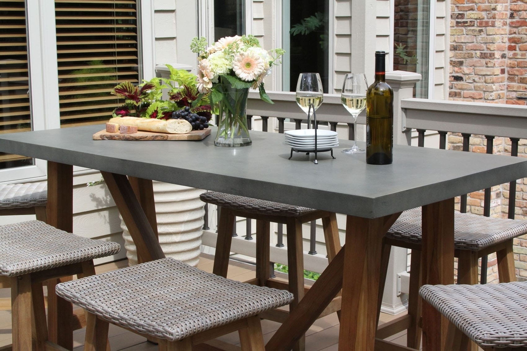 Outdoor Brasilia Teak High Dining Tables Pertaining To Current Teak & Wicker Furniture Collection From Outdoor Interiors (View 10 of 25)